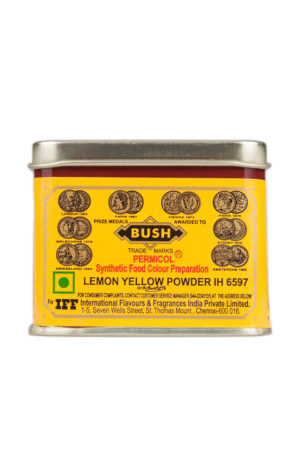 BUSH LEMON YELLOW FOOD COLOURING 100g
