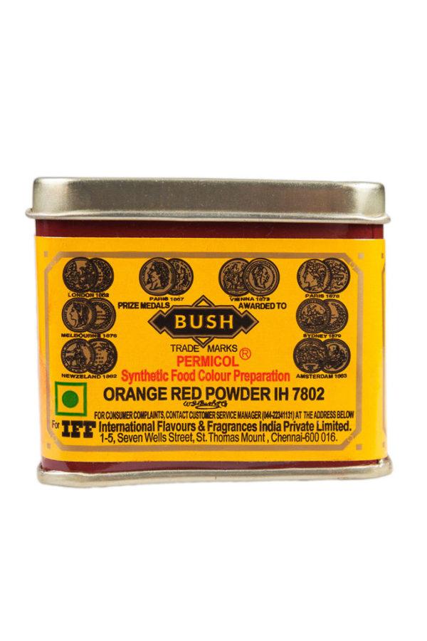 BUSH ORANGE RED FOOD COLOUR 100g