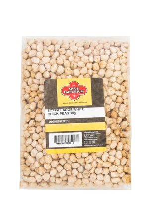 EXTRA LARGE WHITE CHICK PEAS 1kg