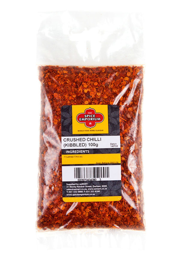 S.E CRUSHED CHILLI (KIBBLED) 100g