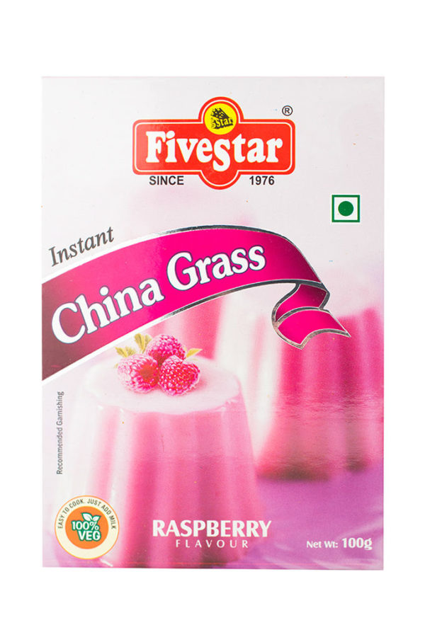 FIVESTAR INSTANT CHINA GRASS (RASPBERRY) 100g