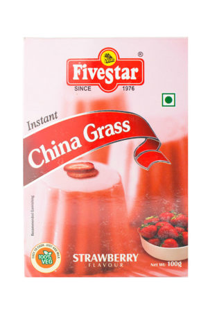 FIVESTAR INSTANT CHINA GRASS (STRAWBERRY) 80g/100g