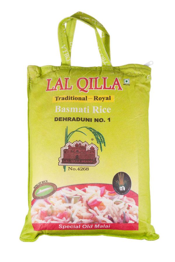 LAL QILLA BASMATI TRADITIONAL WHITE RICE (Fabric & Poly Bag) 5kg