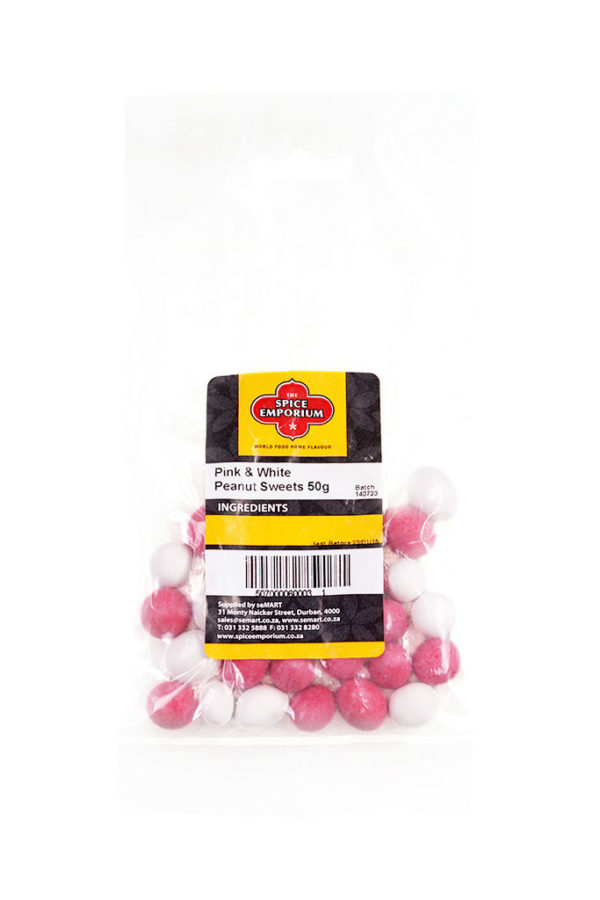 Pink & White Peanut Sweets 50g