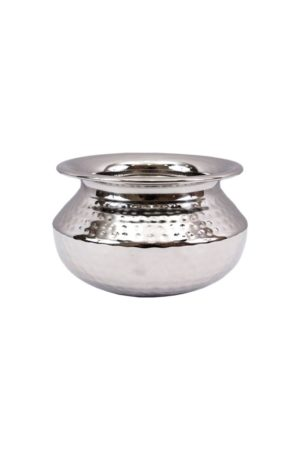 S.S PUNJABI HANDI (HAMMERED) 1 PORTION SMALL