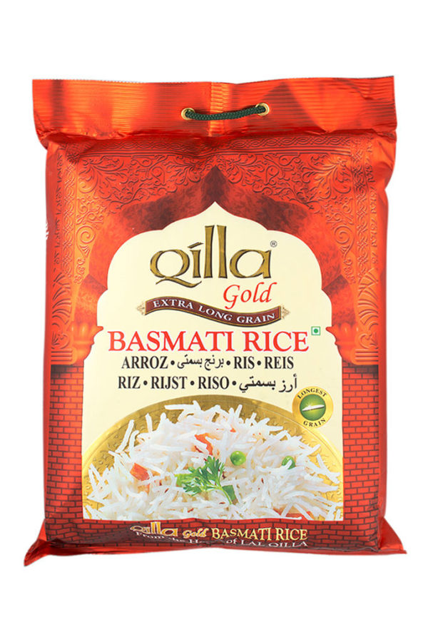 QILLA GOLD - BASMATI WHITE RICE (RED & YELLOW BAG) 5kg