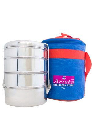 S/S Tiffin With Hot Bag 9x4