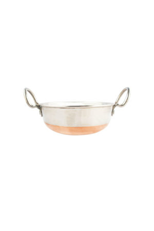 S/S Copper Bottom Kadai With S/Steel Handle No.1