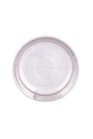 "S/S Halwa Plate (Regular) 5.5"""
