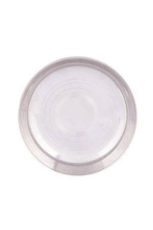 "S/S Halwa Plate (Regular) 6.5"""