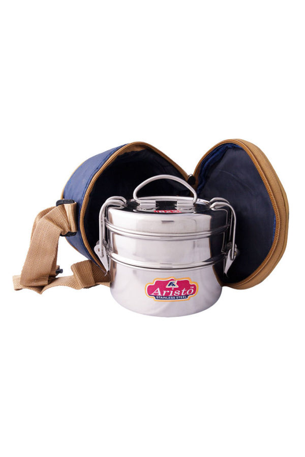 S/S Tiffin With Hot Bag 8x2