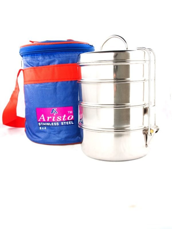 S/S Tiffin With Hot Bag 8x4