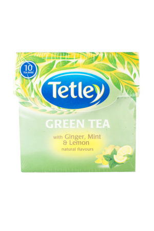 TETLEY GREEN TEA BAGS (GINGER, MINT & LEMON) 10's