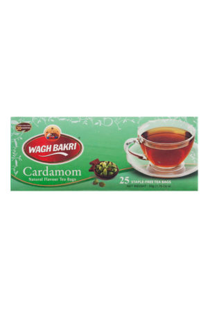 WAGH BAKRI - CARDAMON TEA BAGS - 50g - (25 Tea Bags)