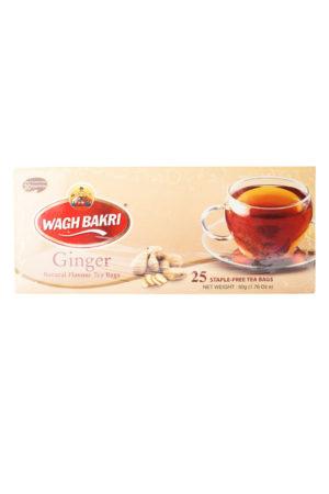 WAGH BAKRI - GINGER TEA BAGS - 50g - (25 Tea Bags)
