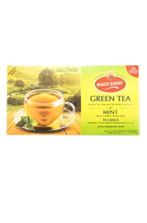 WAGH BAKRI - GREEN TEA -MINT- 37,5g - (25 Tea Bags)