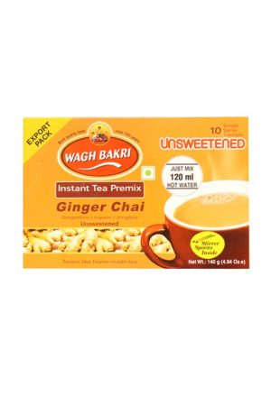 WAGH BAKRI - GINGER CHAI- UNSWEETENED 80G