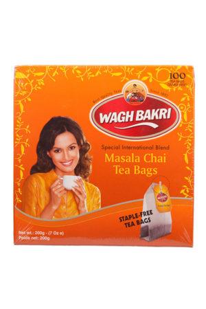 WAGH BAKRI - MASALA CHAI TEA BAGS - 200g