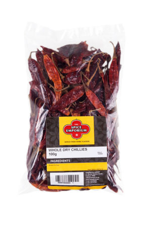 WHOLE DRY CHILLIES 100g
