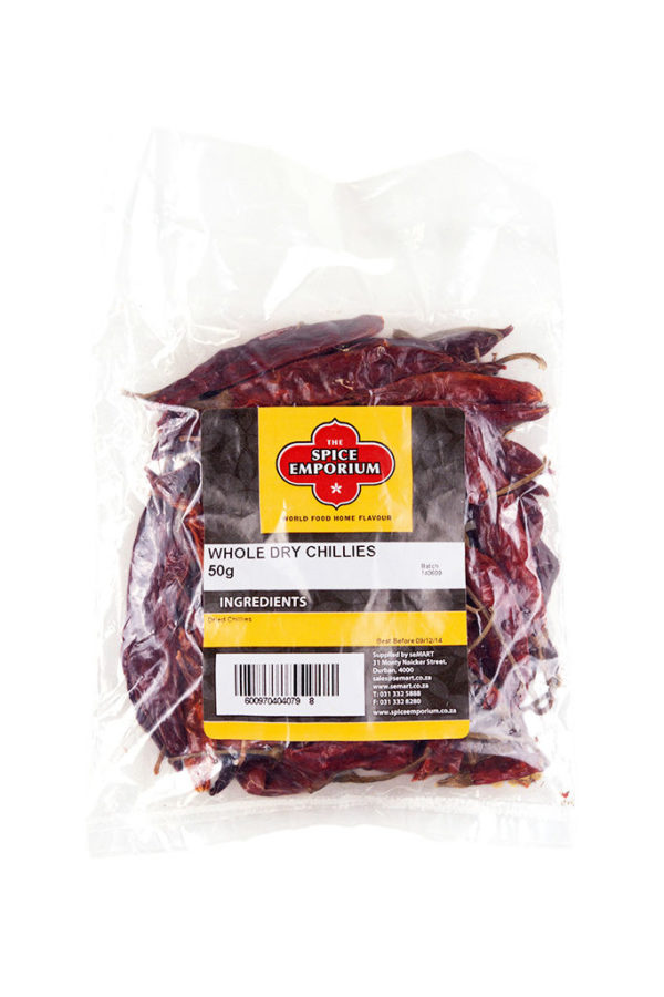 WHOLE DRY CHILLIES 50g