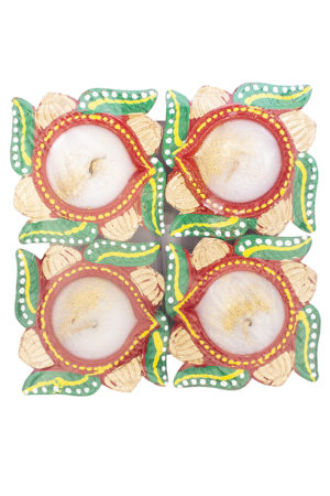 Spice Emporium Diwali Fancy-Clay-Diya-232-with-Wax