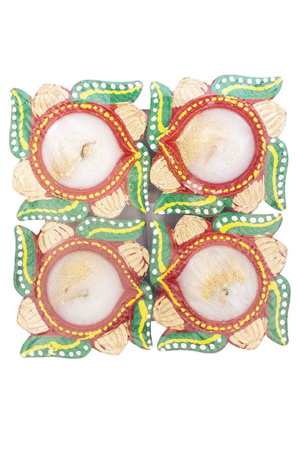 Spice Emporium Diwali Fancy-Clay-Diya-232-with-Wax