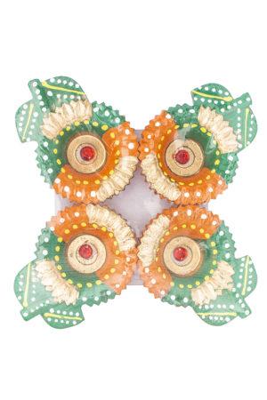 Spice Emporium Diwali Fancy-Clay-Diya-239