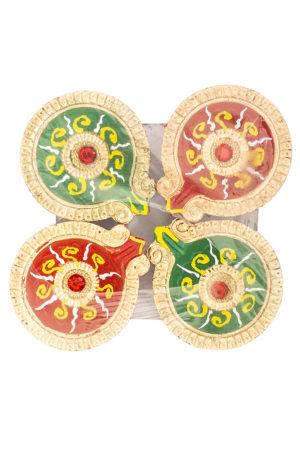 Spice Emporium Diwali Fancy-Clay-Diya-245