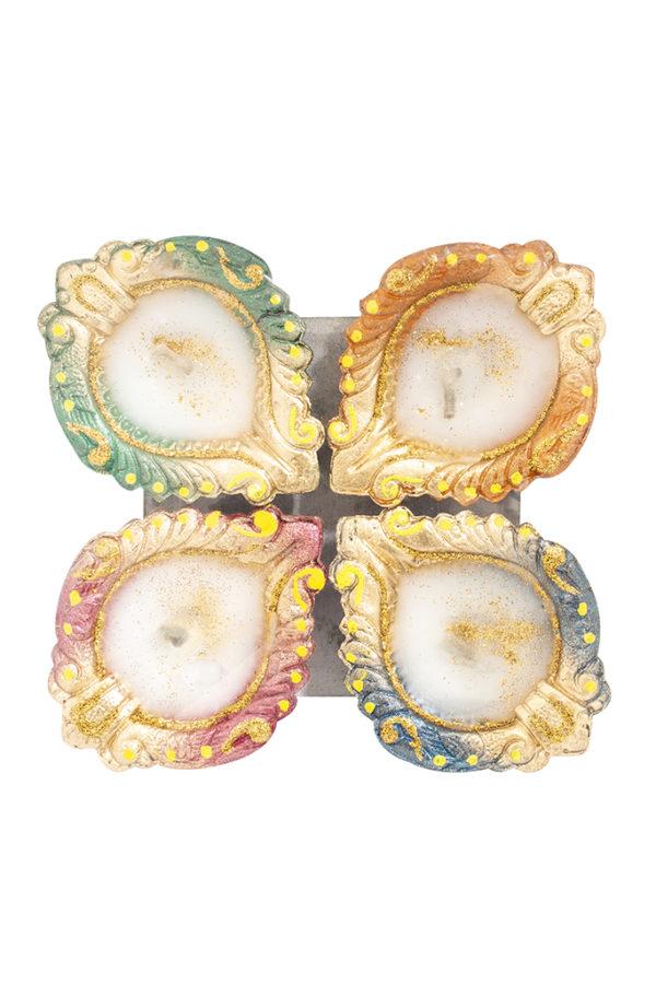 Spice Emporium Diwali Fancy-Clay-Diya-487-with-Wax
