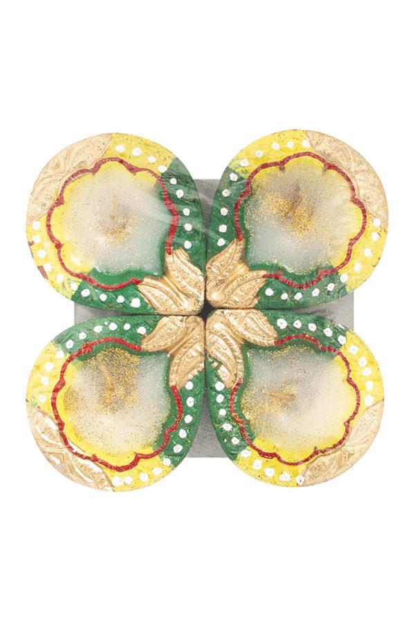 Spice Emporium Diwali Fancy-Clay-Diya-490-with-Wax