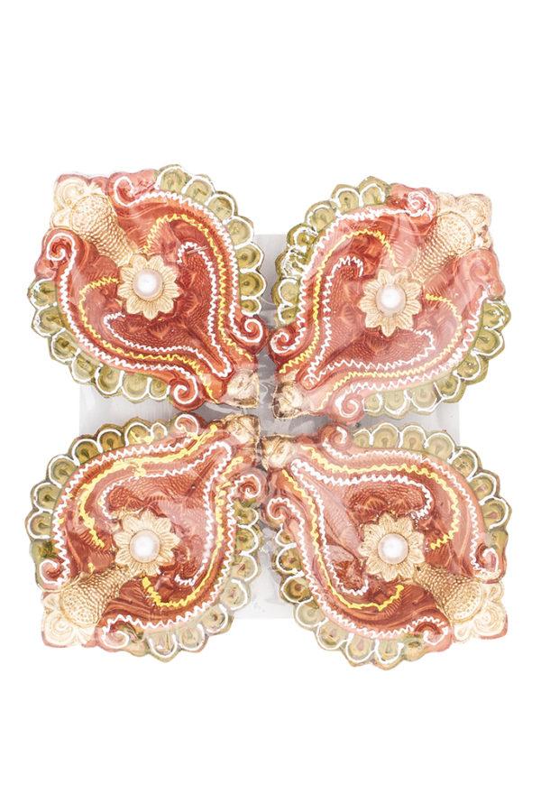 Spice Emporium Diwali Fancy-Clay-Diya-708