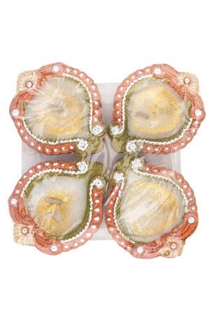 Spice Emporium Diwali Fancy-Clay-Diya-711-with-Wax