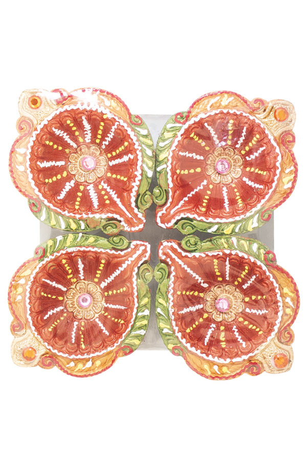Spice Emporium Diwali Fancy-Clay-Diya-732