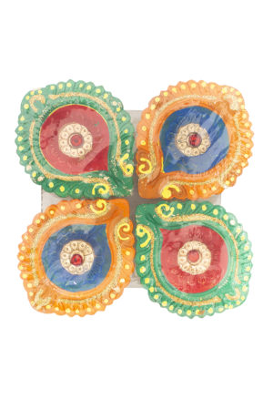 Spice Emporium Diwali Fancy-Clay-Diya-77