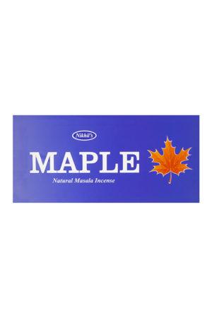 NIKHILS MAPLE NATURAL MASALA INCENSE STICKS 12