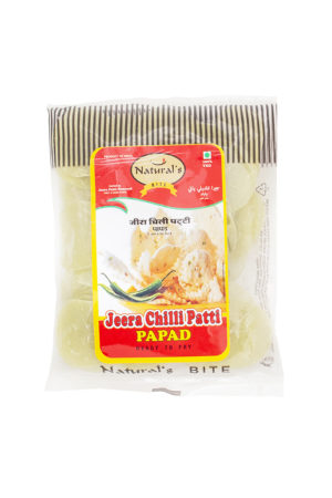 NATURAL BITE JEERA CHILLI PATTI PAPAD 100G