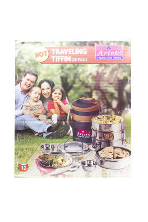 160078000604189 SPICE EMPORIUM ARISTO TRAVELLING TIFFIN WITH HOT BAG 12x4 BOX