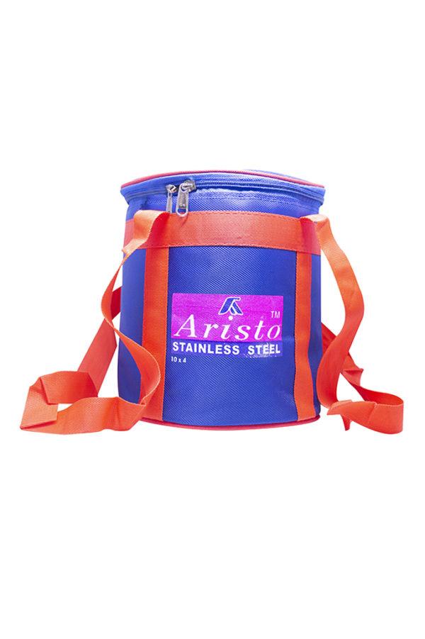 160078000630146 SPICE EMPORIUM ARISTO TRAVELLING TIFFIN WITH HOT BAG 10X4