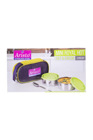160078000630147 SPICE EMPORIUM ARISTO MINI ROYAL HOT LUNCH BOX 2PCS BOX