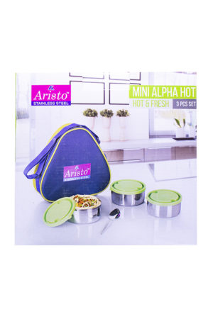 160078000630148 SPICE EMPORIUM ARISTO MINI ALPHA HOT LUNCH BOX 3PCS BOX